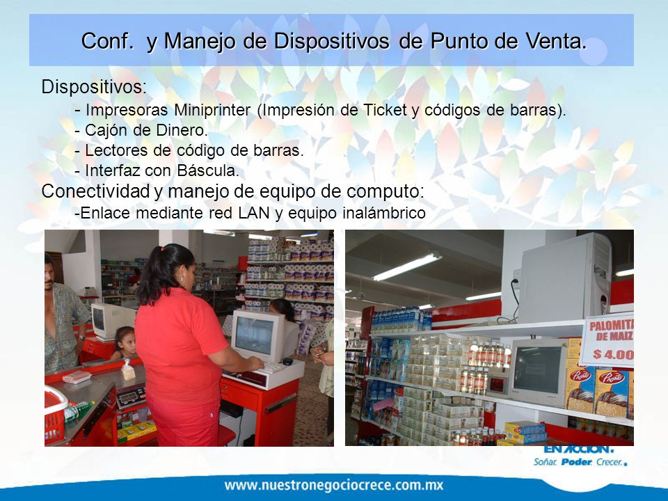 Conf. y Manejo de Dispositivos de Punto de Venta.