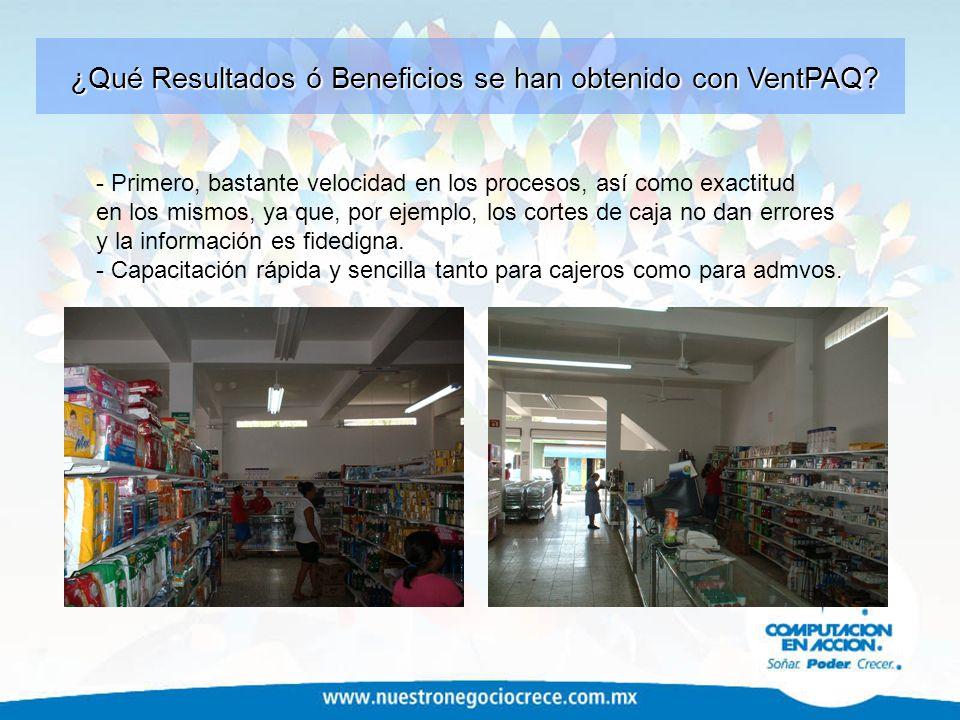 ¿Qué Resultados ó Beneficios se han obtenido con VentPAQ