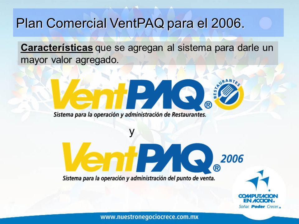 Plan Comercial VentPAQ para el 2006.