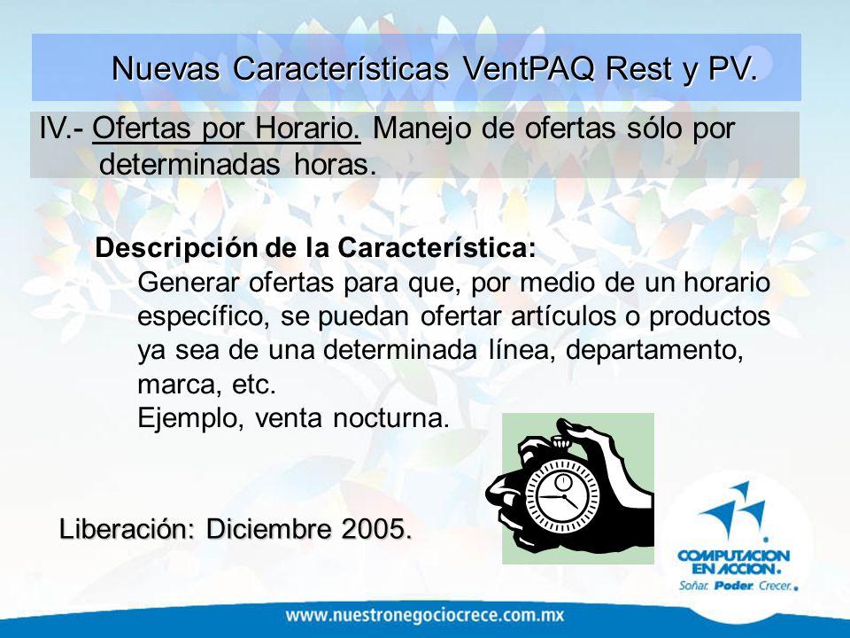 Nuevas Características VentPAQ Rest y PV.