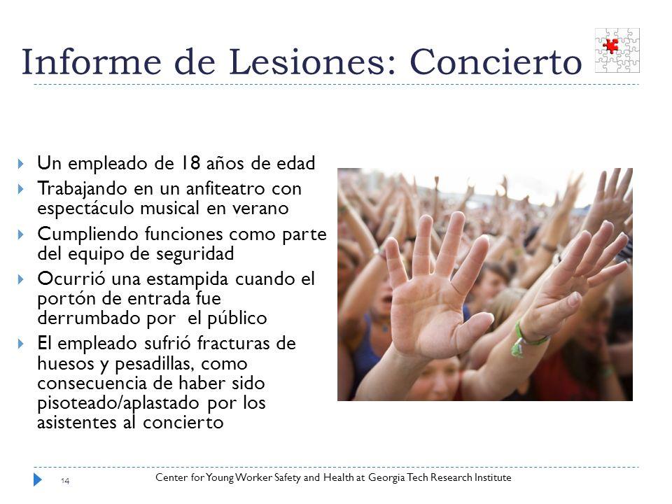 Informe de Lesiones: Concierto