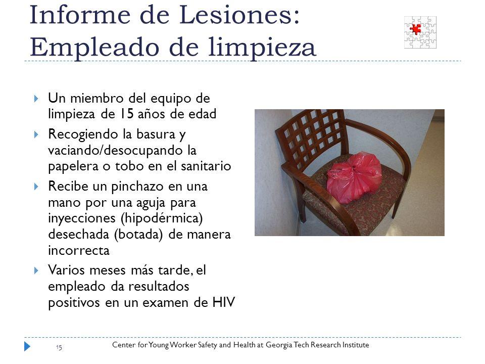 Informe de Lesiones: Empleado de limpieza
