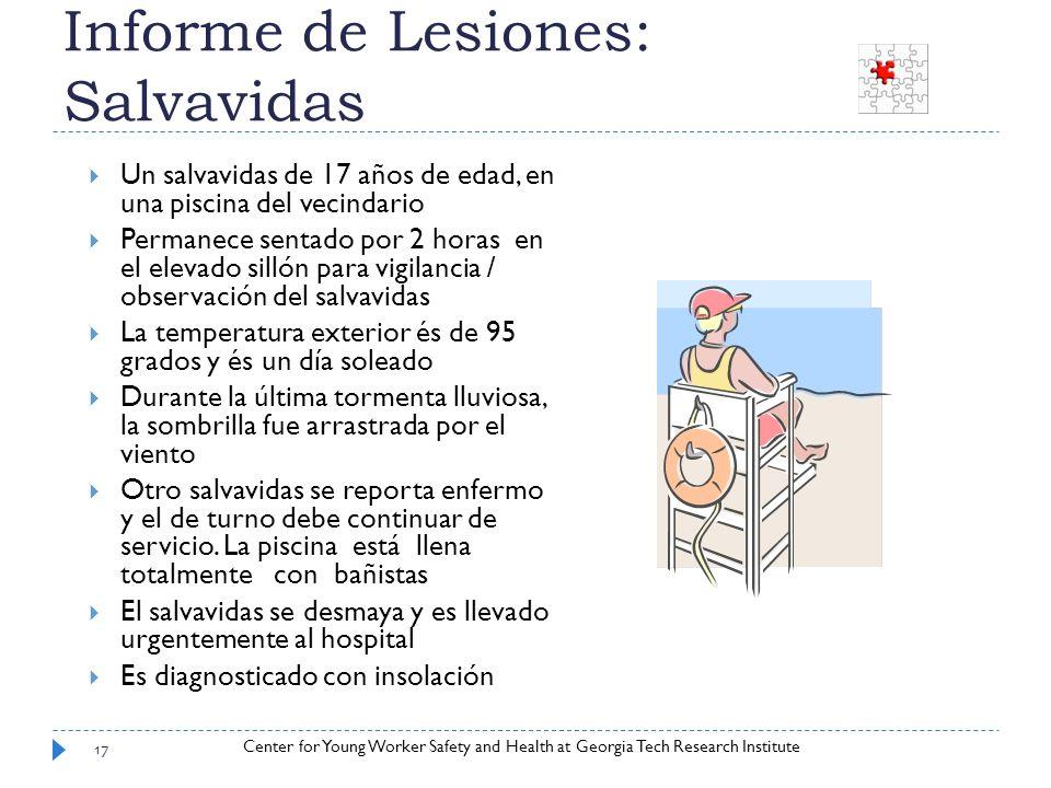 Informe de Lesiones: Salvavidas