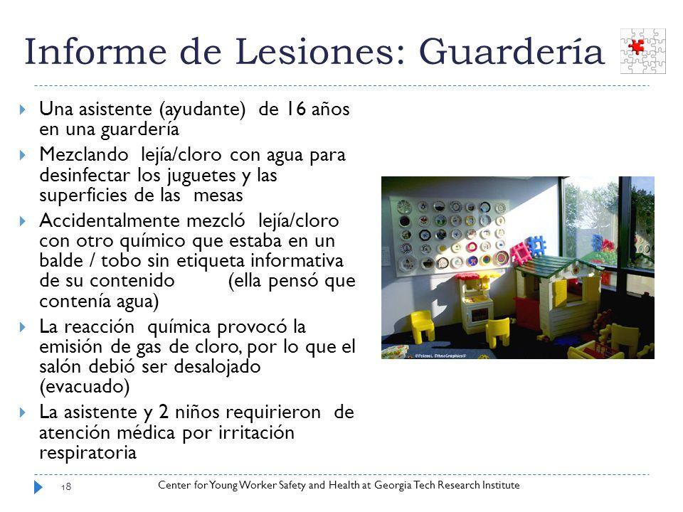 Informe de Lesiones: Guardería
