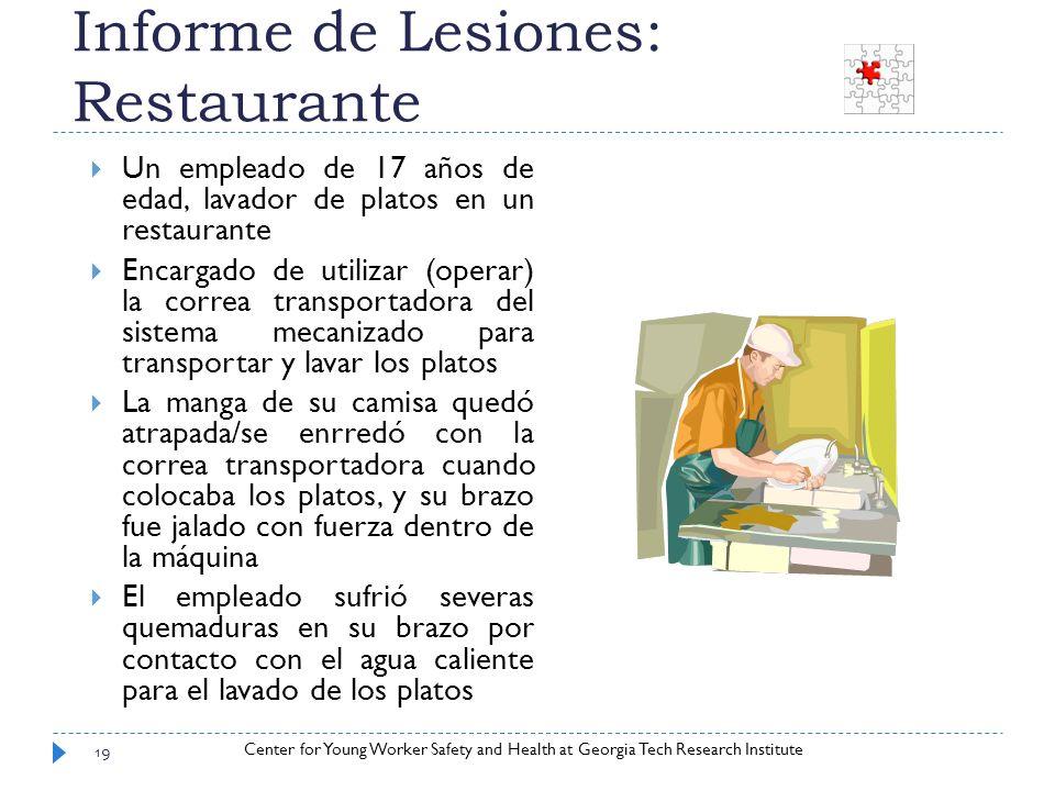 Informe de Lesiones: Restaurante