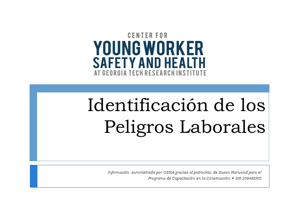 Identificación de los Peligros Laborales