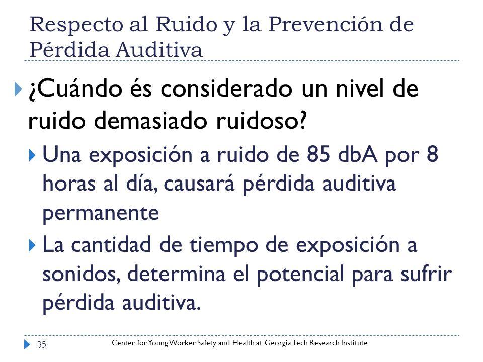 Respecto al Ruido y la Prevención de Pérdida Auditiva
