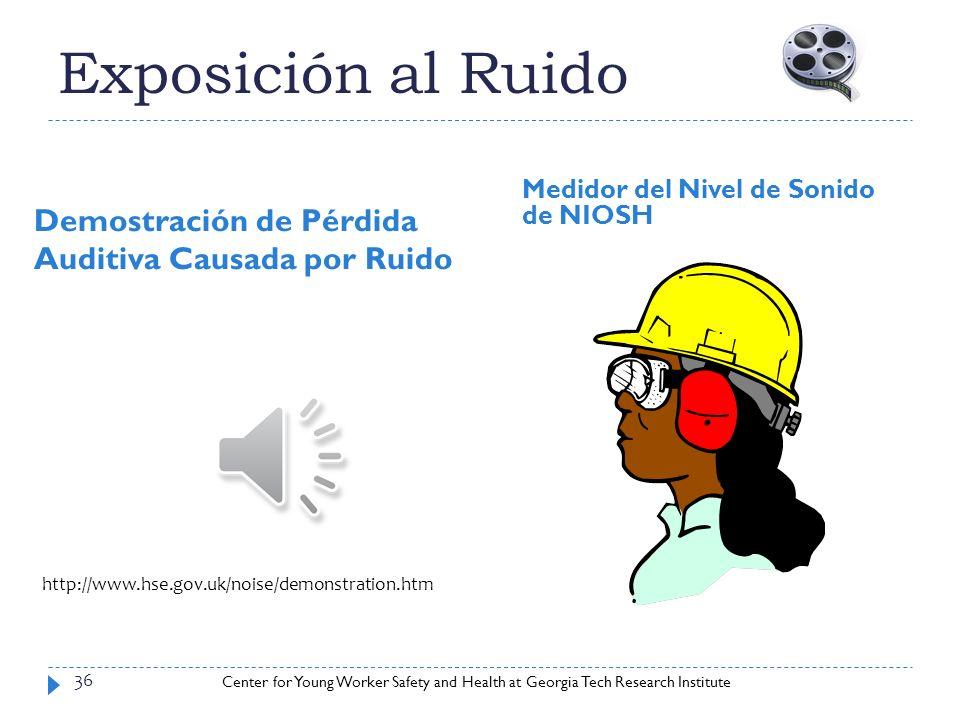 Exposición al Ruido Demostración de Pérdida Auditiva Causada por Ruido