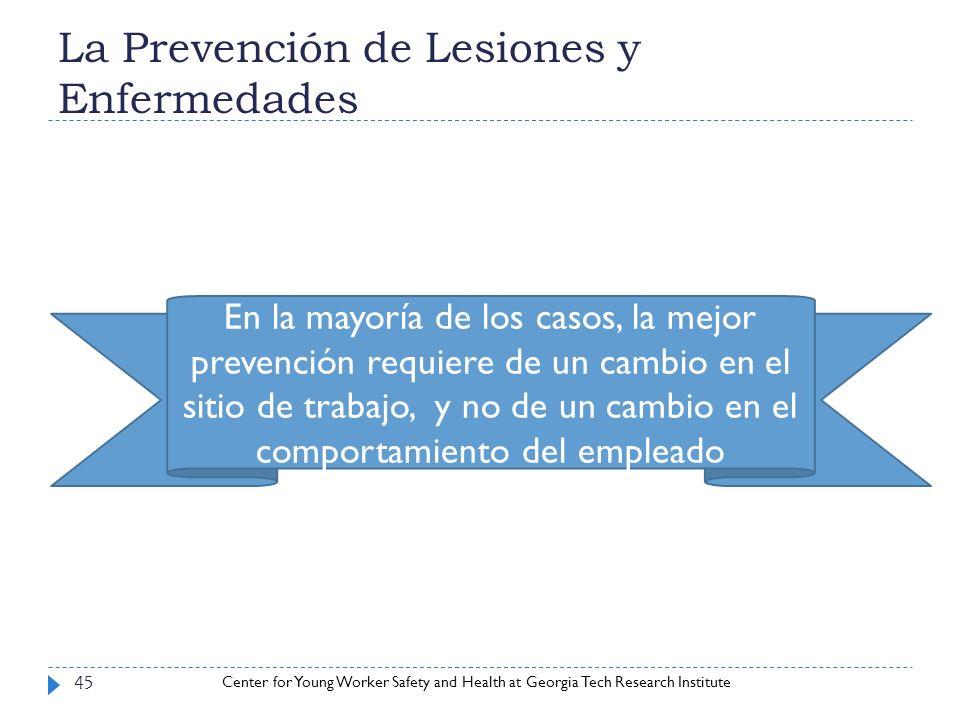 La Prevención de Lesiones y Enfermedades