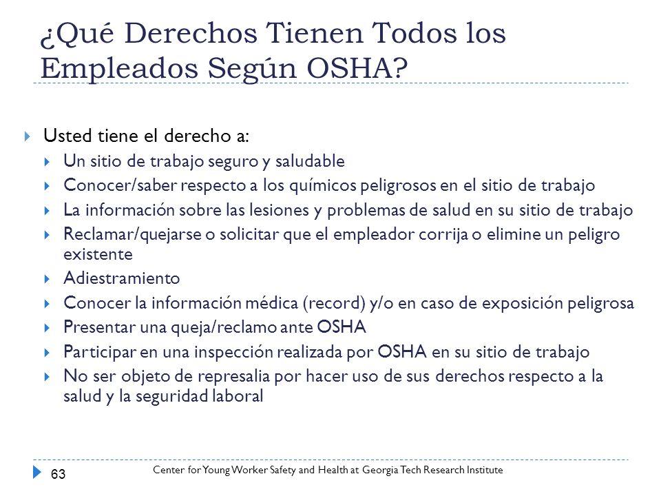 ¿Qué Derechos Tienen Todos los Empleados Según OSHA