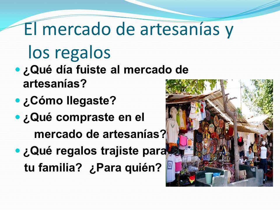 El mercado de artesanías y los regalos