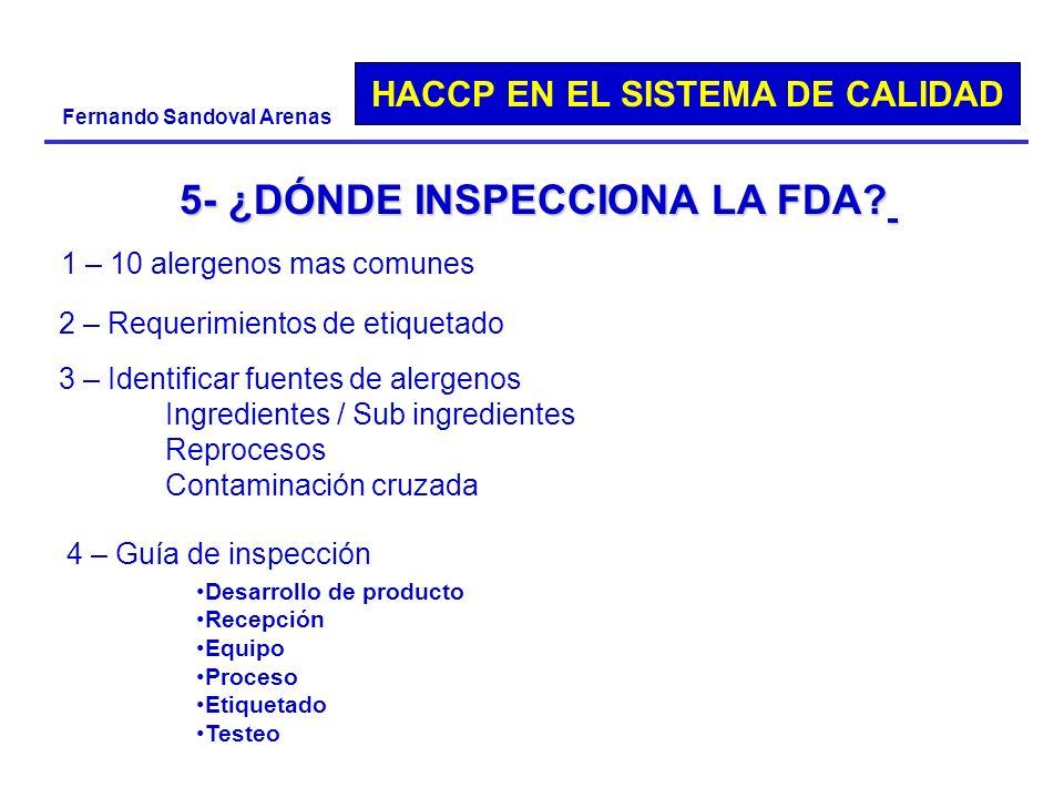 5- ¿DÓNDE INSPECCIONA LA FDA