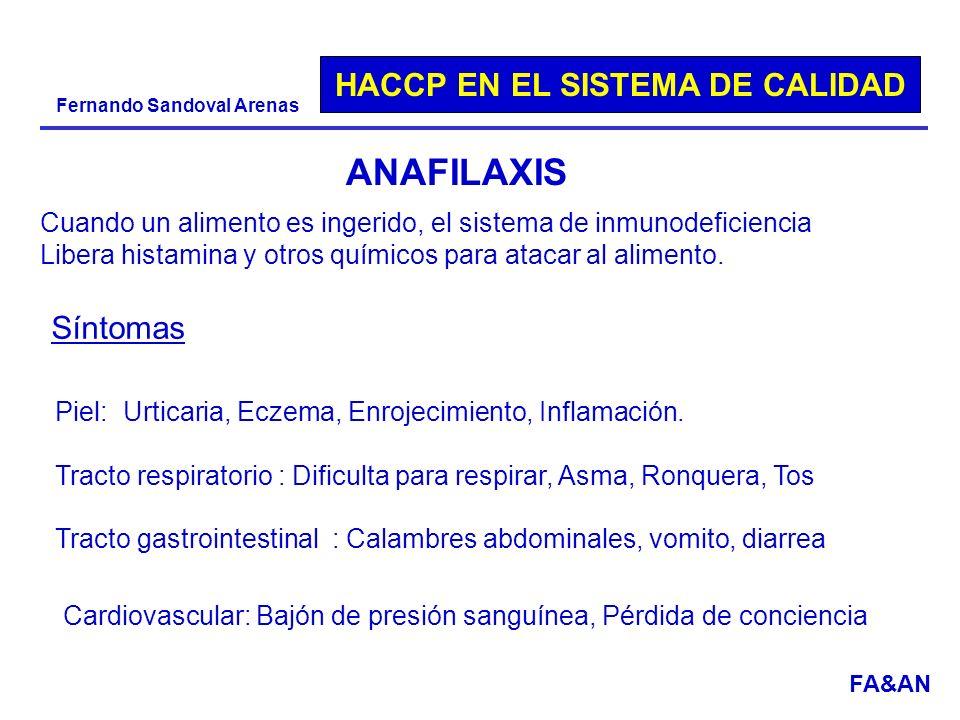 ANAFILAXIS Cuando un alimento es ingerido, el sistema de inmunodeficiencia. Libera histamina y otros químicos para atacar al alimento.