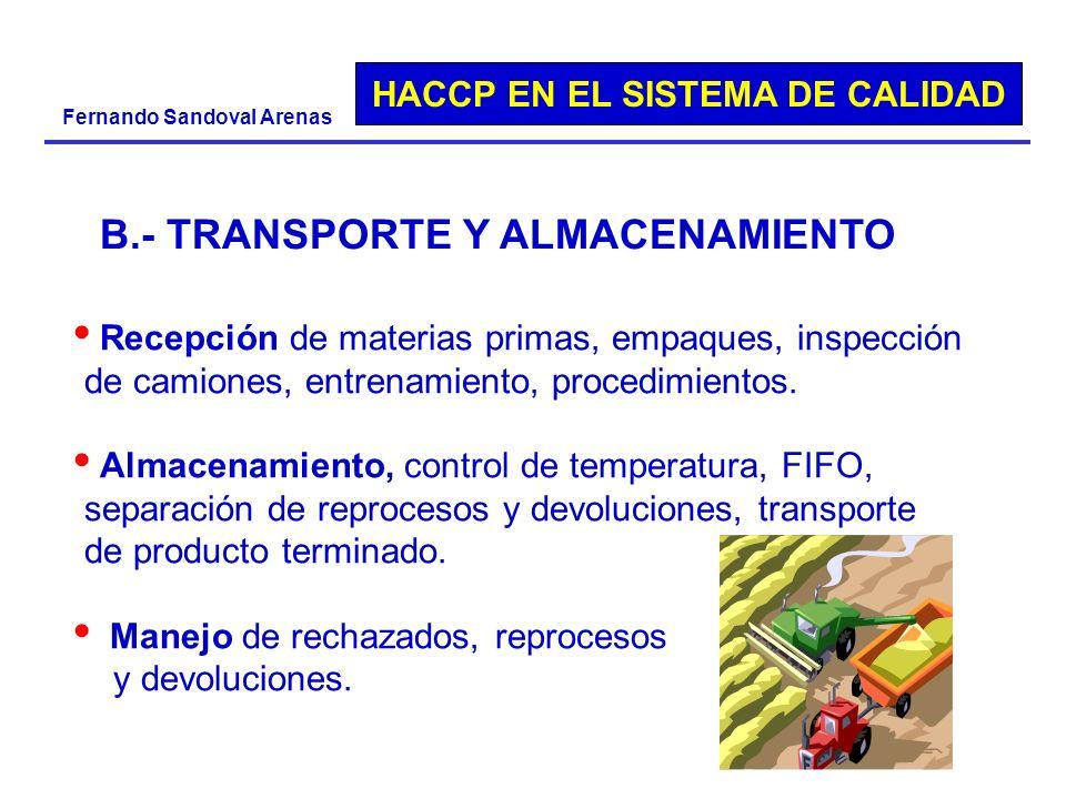 B.- TRANSPORTE Y ALMACENAMIENTO