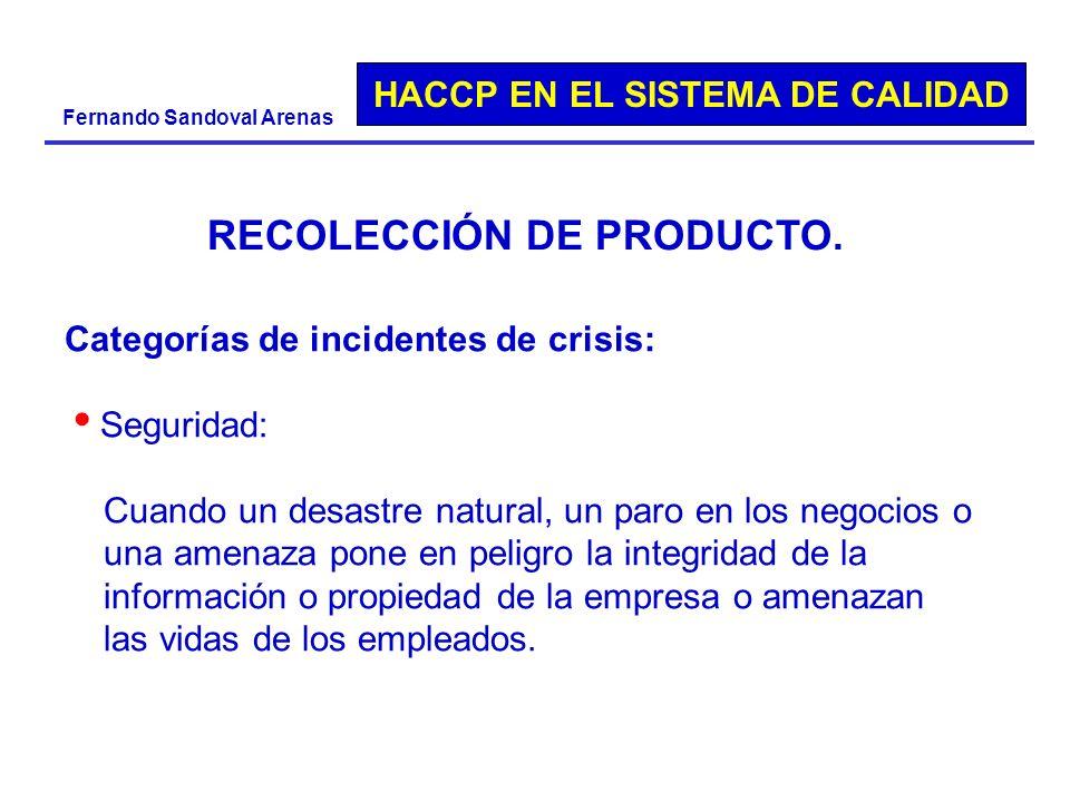 RECOLECCIÓN DE PRODUCTO.