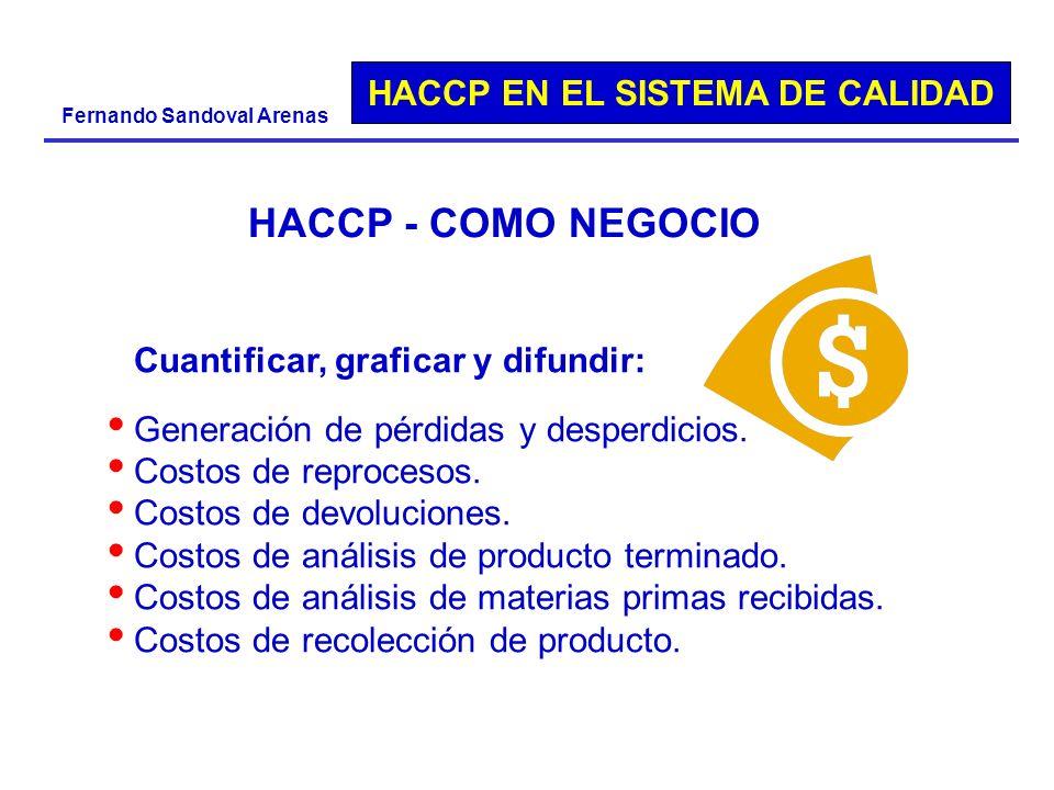 HACCP - COMO NEGOCIO Cuantificar, graficar y difundir: