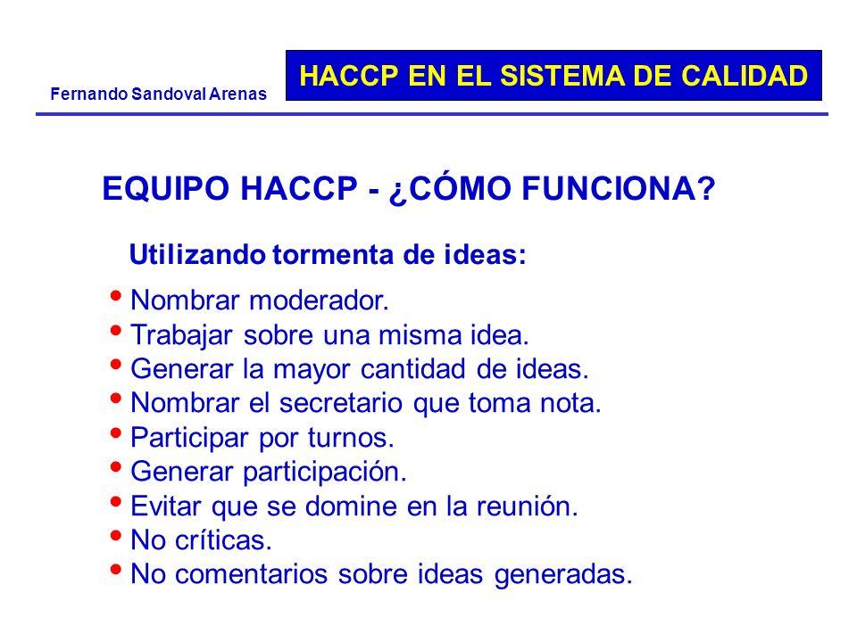 EQUIPO HACCP - ¿CÓMO FUNCIONA