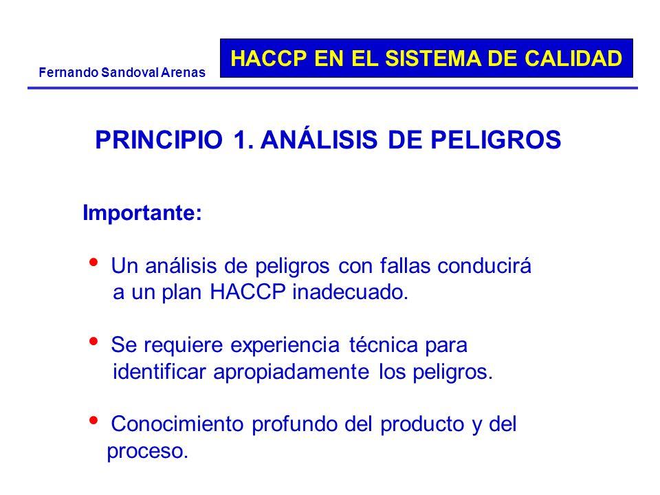 PRINCIPIO 1. ANÁLISIS DE PELIGROS
