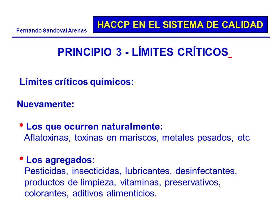 PRINCIPIO 3 - LÍMITES CRÍTICOS