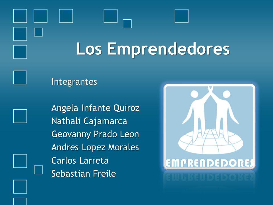 Los Emprendedores Integrantes Angela Infante Quiroz Nathali Cajamarca