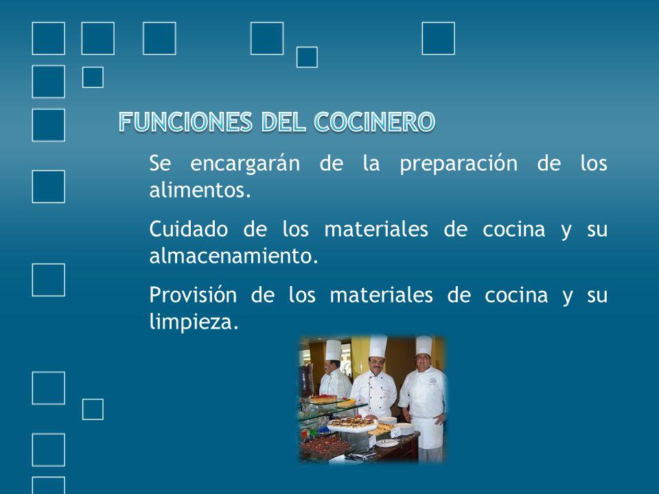 FUNCIONES DEL COCINERO