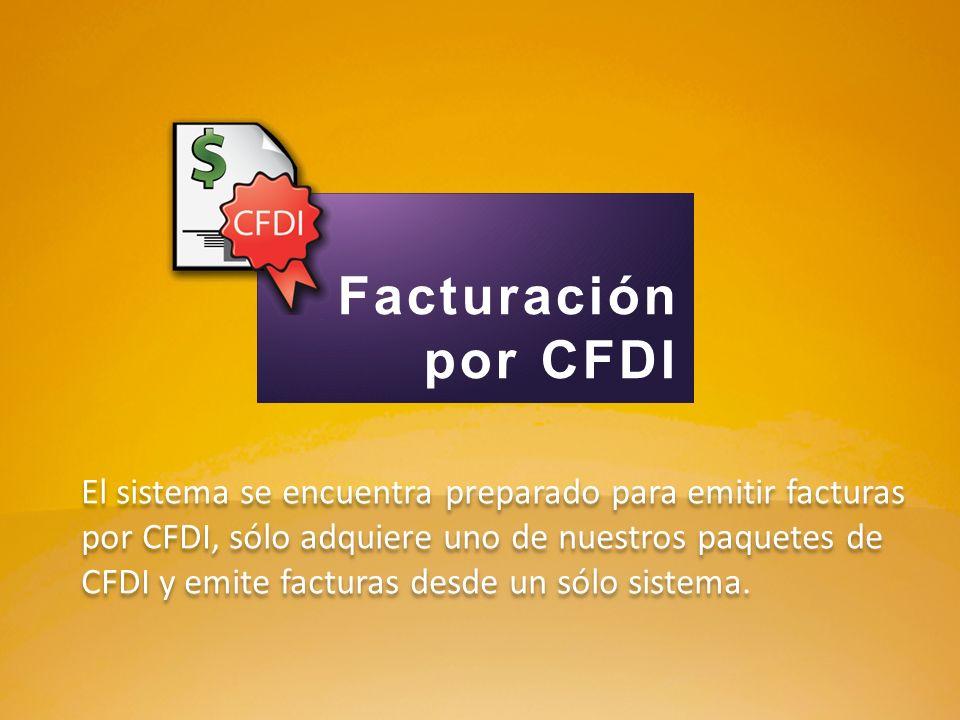 Facturación por CFDI.