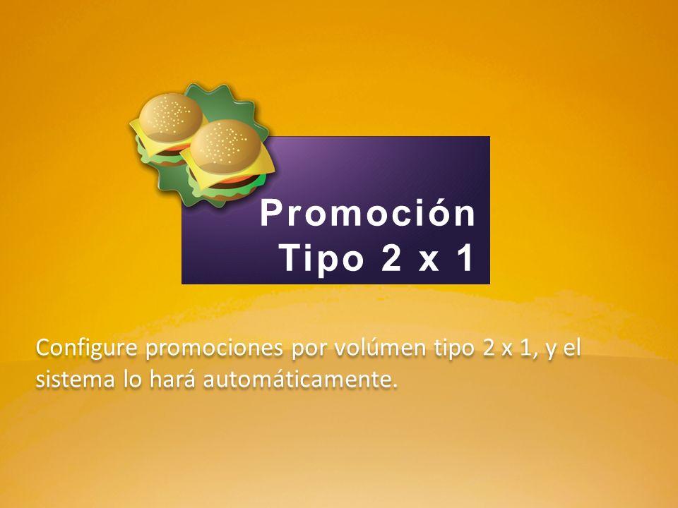 Promoción Tipo 2 x 1.
