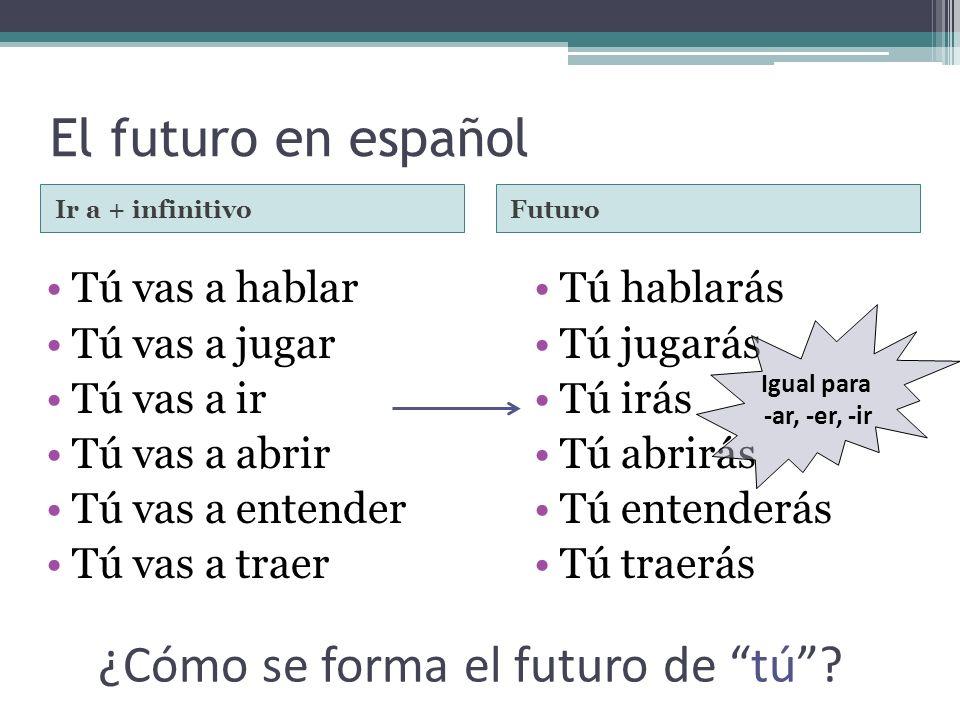 ¿Cómo se forma el futuro de tú