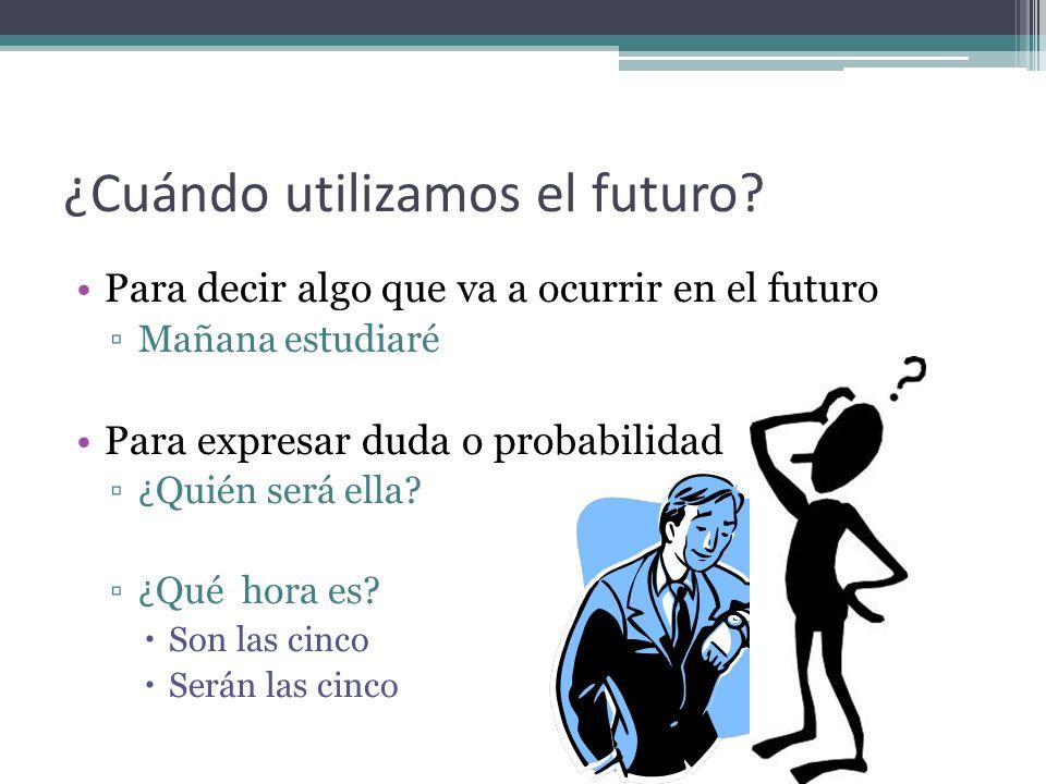 ¿Cuándo utilizamos el futuro