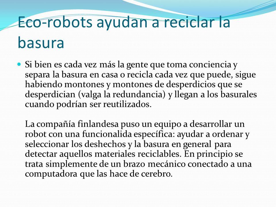 Eco-robots ayudan a reciclar la basura