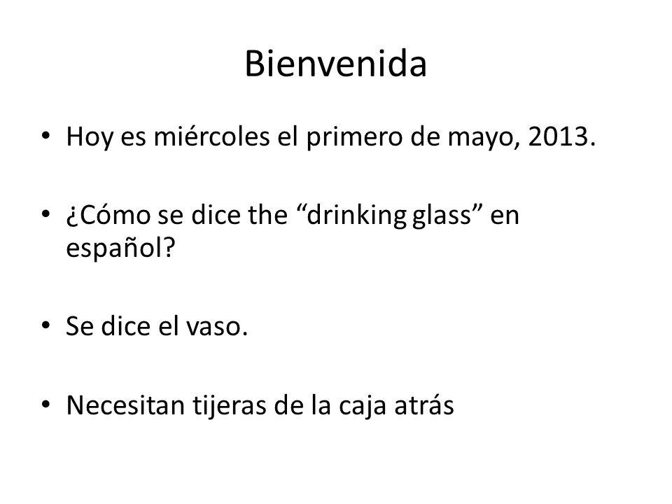 Bienvenida Hoy es miércoles el primero de mayo, 2013.