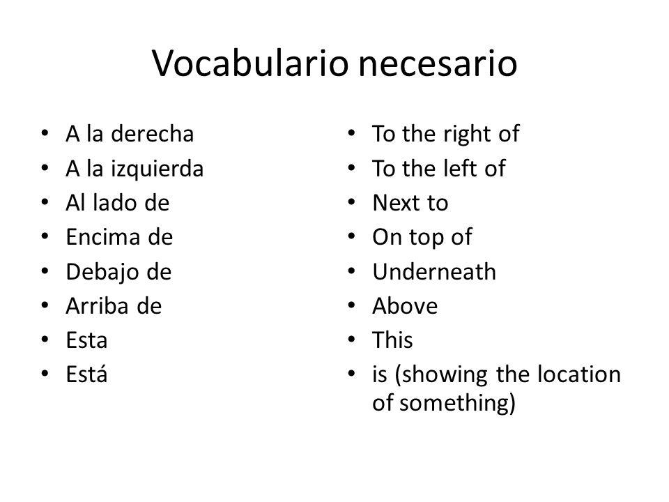 Vocabulario necesario
