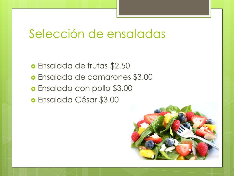 Selección de ensaladas