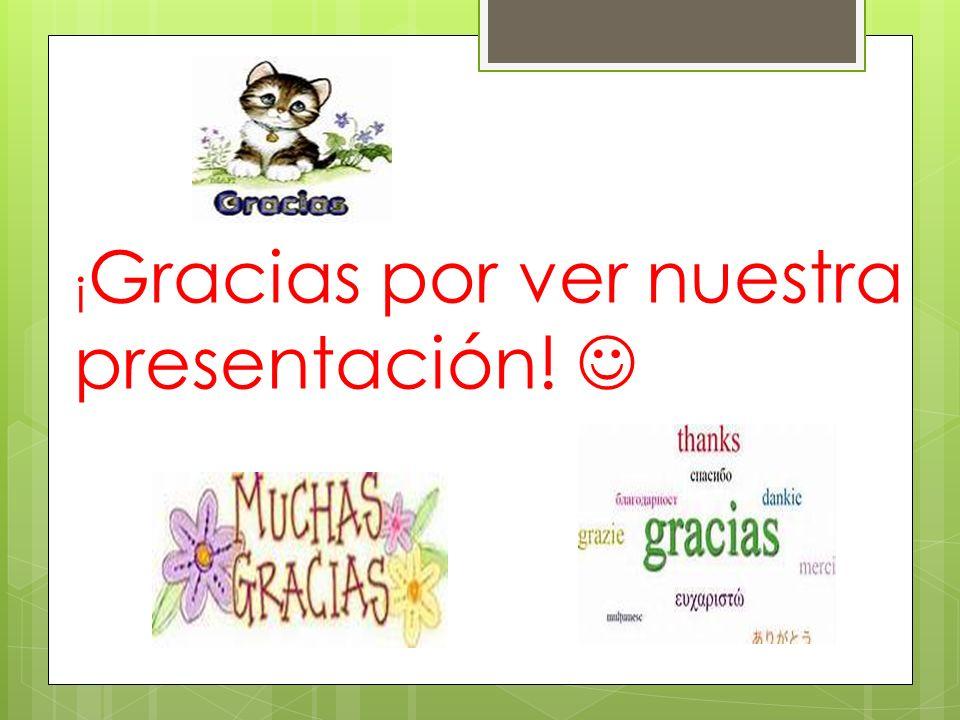 ¡Gracias por ver nuestra presentación! 