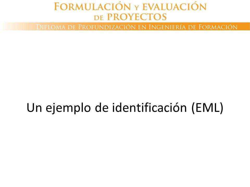 Un ejemplo de identificación (EML)