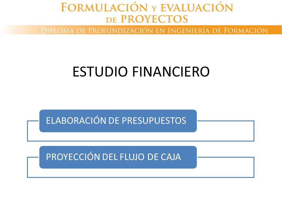 ESTUDIO FINANCIERO ELABORACIÓN DE PRESUPUESTOS