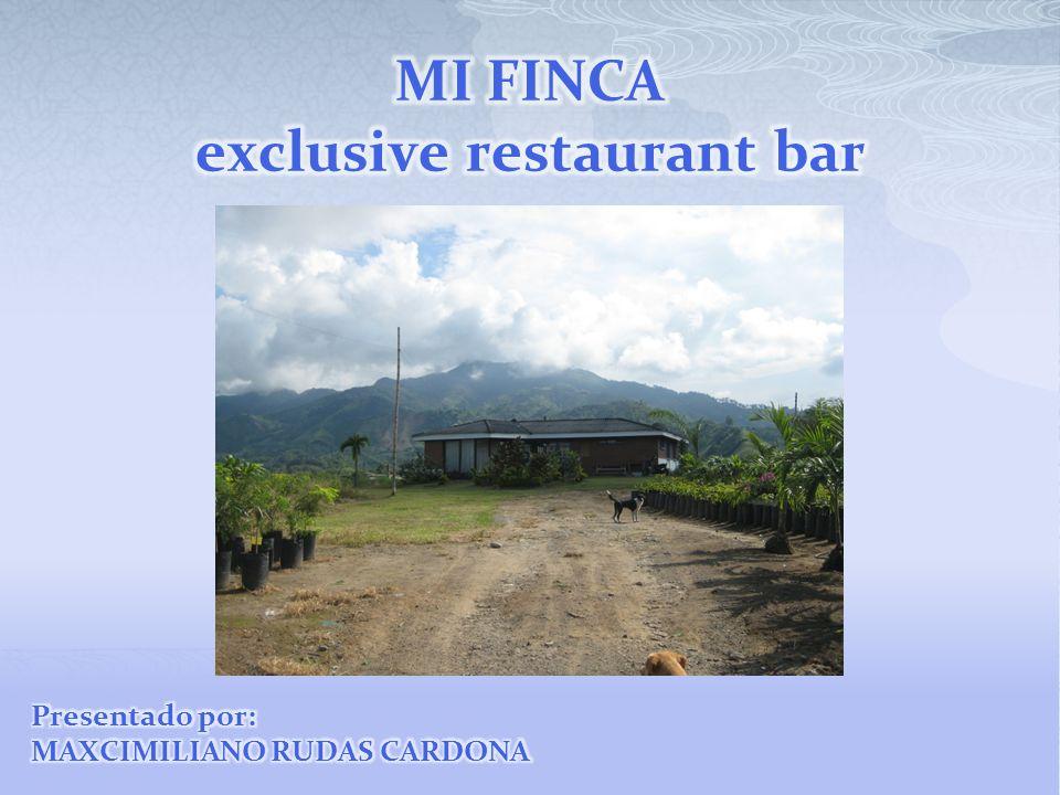 MI FINCA exclusive restaurant bar