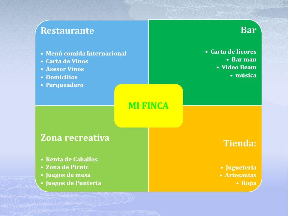 MI FINCA Restaurante Bar Zona recreativa Tienda:
