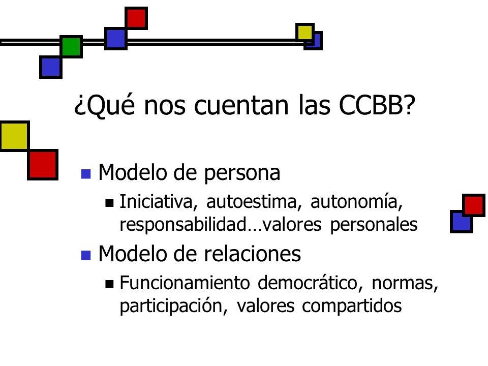 ¿Qué nos cuentan las CCBB