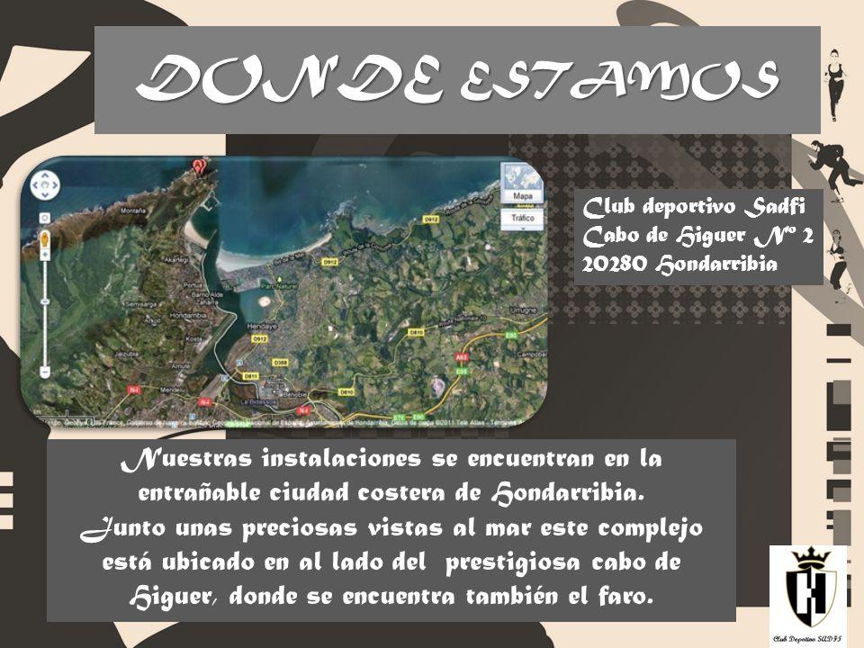 DONDE ESTAMOS Club deportivo Sadfi. Cabo de Higuer Nº 2. 20280 Hondarribia.