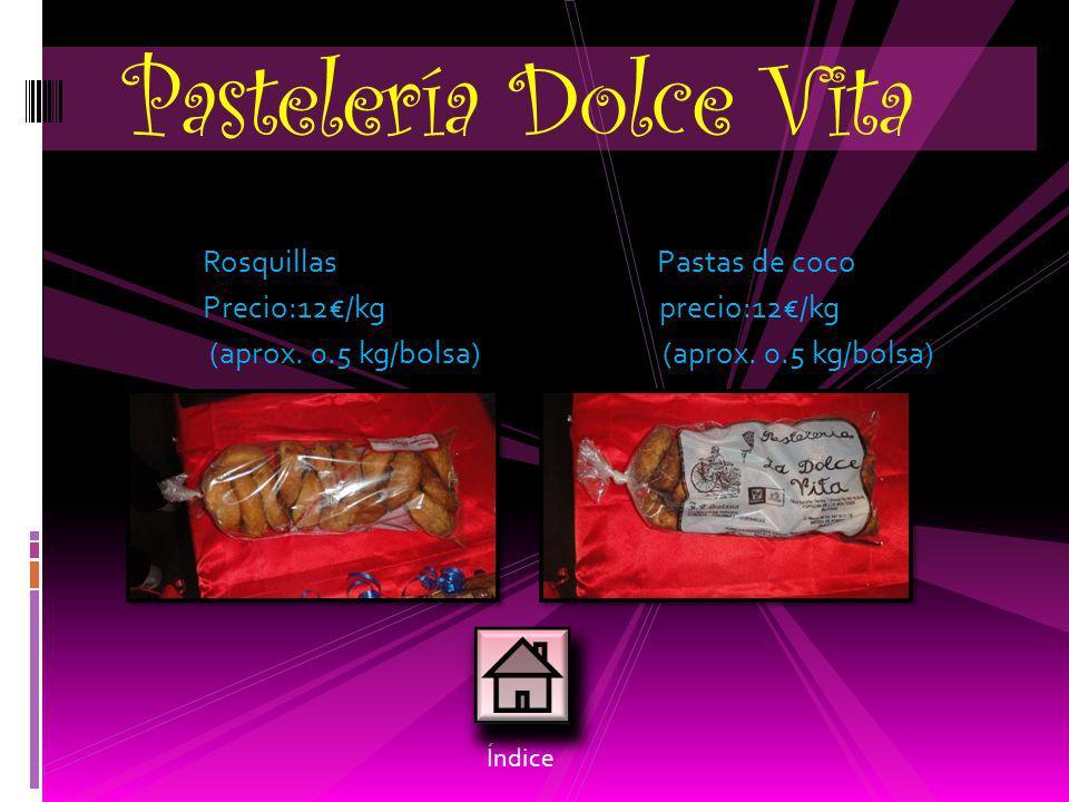 Pastelería Dolce Vita Rosquillas Pastas de coco