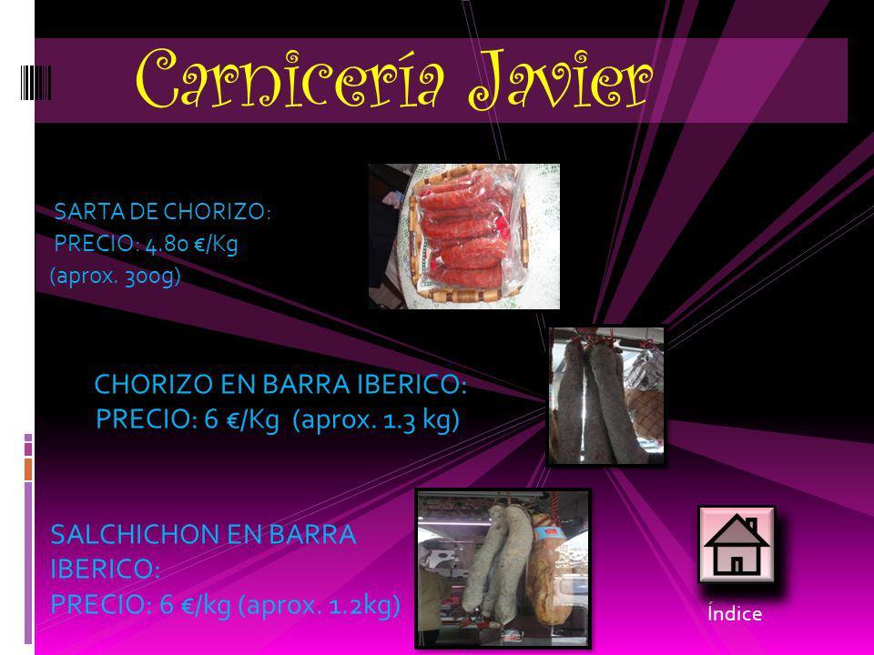 Carnicería Javier CHORIZO EN BARRA IBERICO: