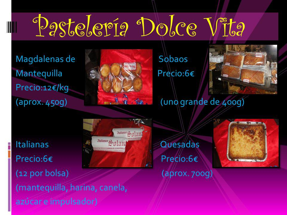 Pastelería Dolce Vita Magdalenas de Sobaos Mantequilla Precio:6€