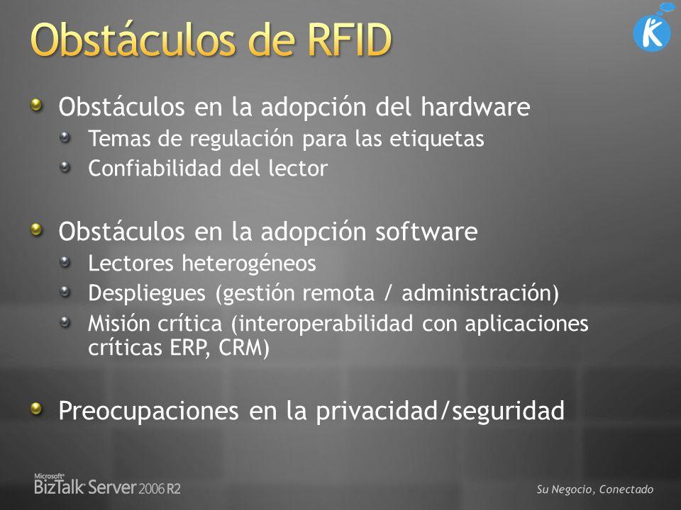 Obstáculos de RFID Obstáculos en la adopción del hardware