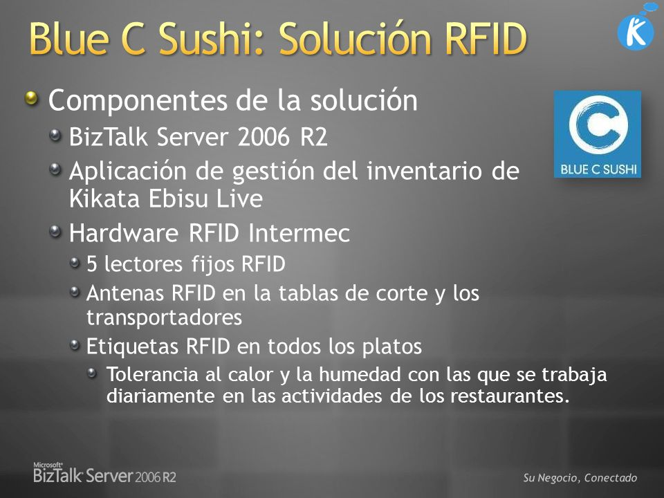 Blue C Sushi: Solución RFID