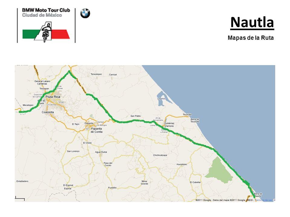 Nautla Mapas de la Ruta