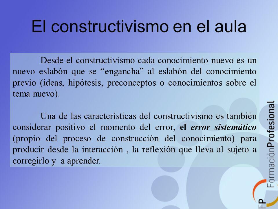 El constructivismo en el aula