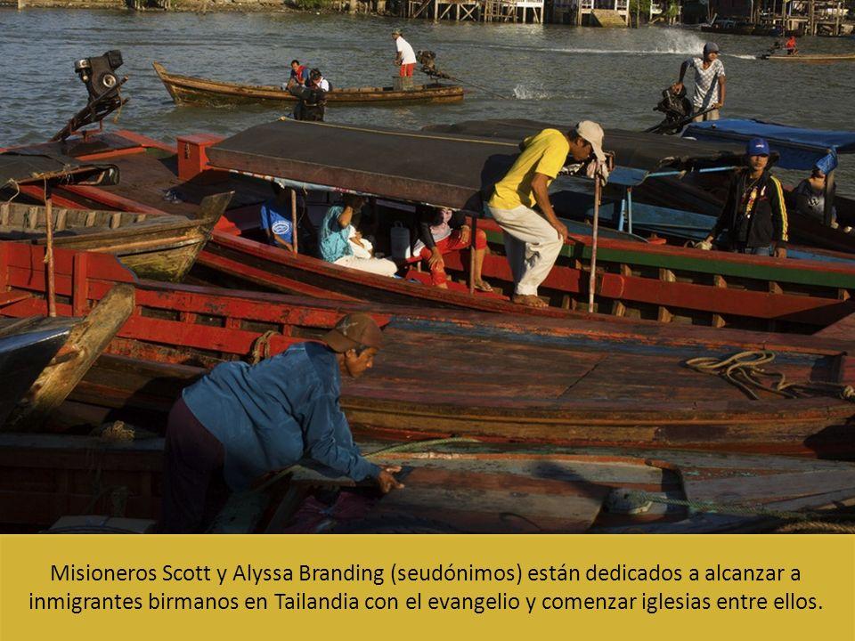 Misioneros Scott y Alyssa Branding (seudónimos) están dedicados a alcanzar a inmigrantes birmanos en Tailandia con el evangelio y comenzar iglesias entre ellos.