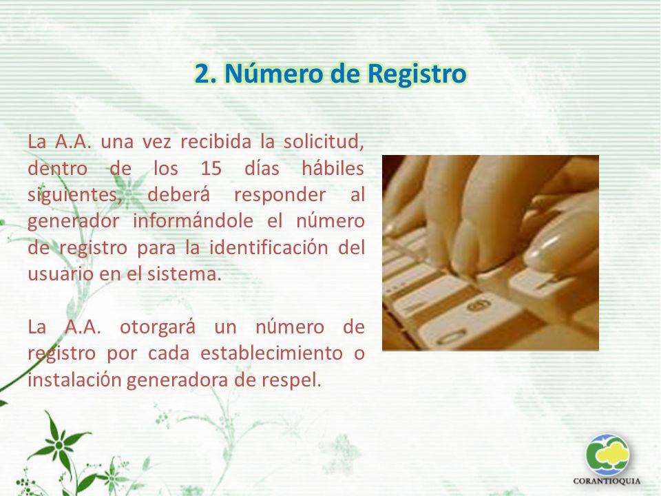 2. Número de Registro