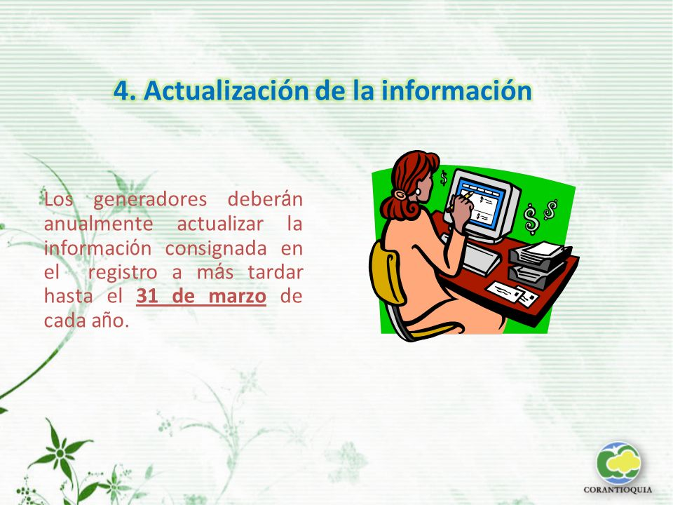 4. Actualización de la información